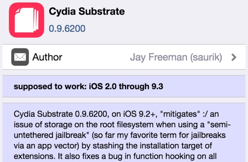 Cydia Substrate update