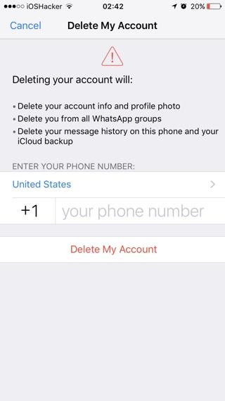samsung how to delete whatsapp