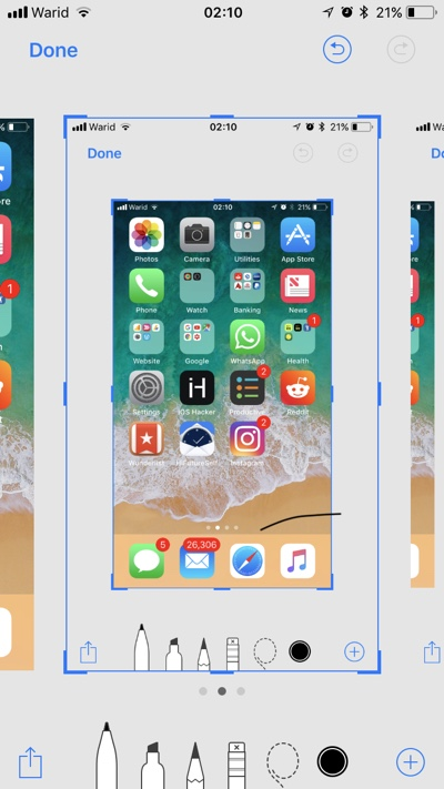 Image result for ios 11 screenshot changes