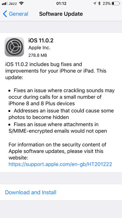 iOS 11 0 2 Released, Get Direct IPSW Download Links For iOS 11 0 2