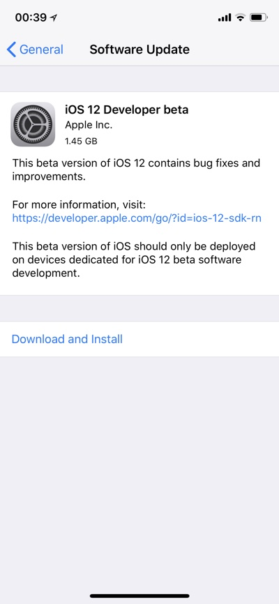 Ios 12 beta profile download