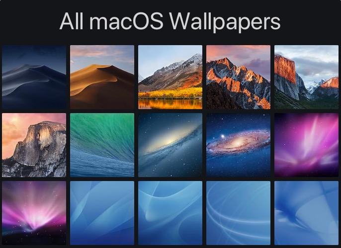 Apple Has Included A Different Wallpaper With Almost Every Release Of Mac OS X Which Is Now Renamed As MacOS Starting From 100 Cheetah That Was