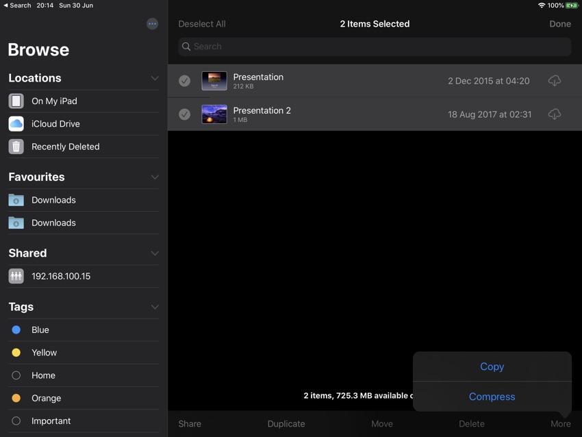 Zip Or Compress Files On iPad