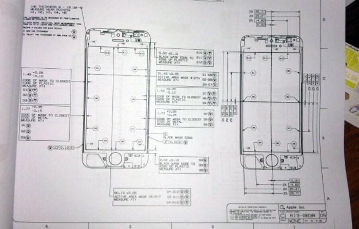 Planos del frontal del posible iPhone 5