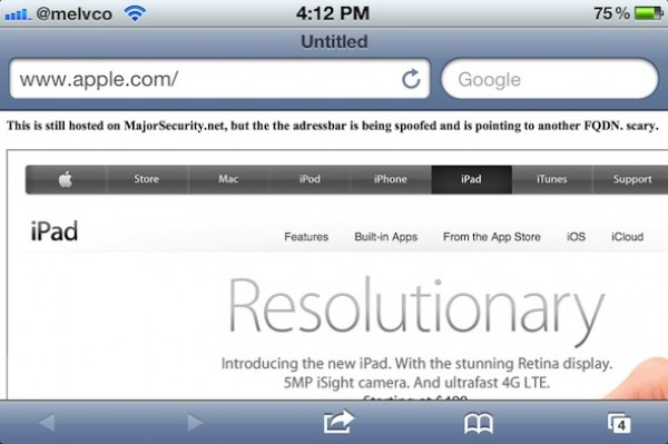 iOS 5.1.1 incluye el parche para la vulnerabilidad de Safari