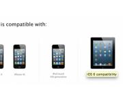 compatibilidad de iOS 6 con iDevices :