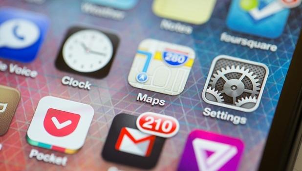 escritorio iOS 6 mapas
