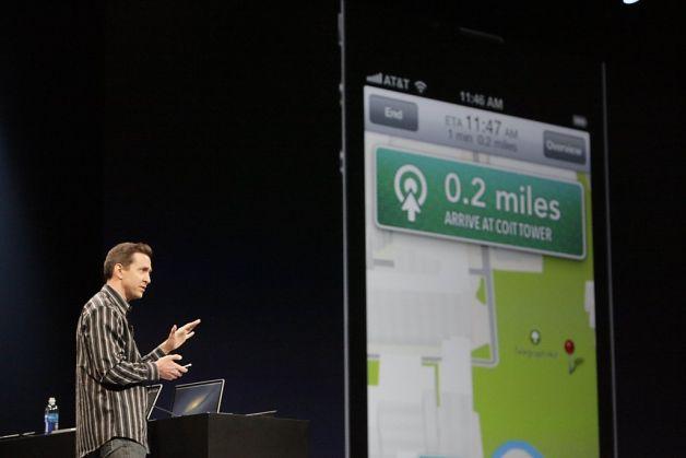 Scott Forstall presentación de los mapas.