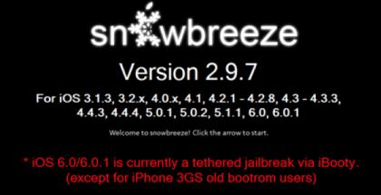 jailbreak tethered ios 6 sn0wbreeze v 2.9.7