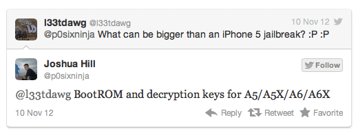 Jailbreak Tethered de iOS 6 twitter p0sixninja