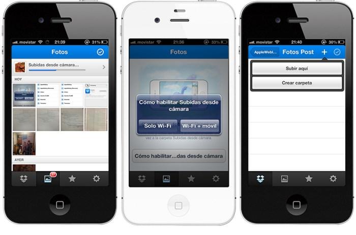 Dropbox para iOS a la versión 2.0