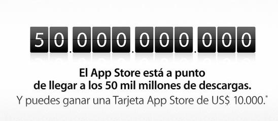 50.000 millones de descargas