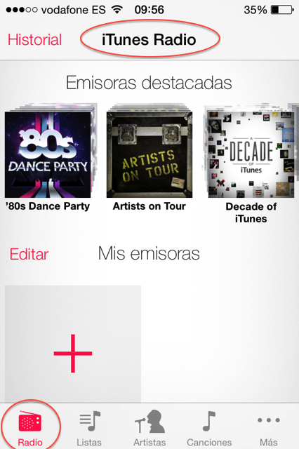 itunes radio en iPhone 4s