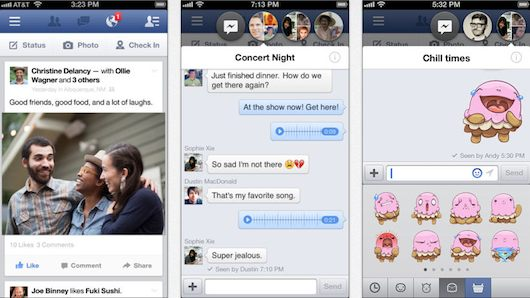 facebook para iOS