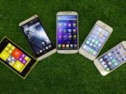 iPhone 5S vs iPhone 5 vs Lumia 1020 vs HTC One vs Galaxy S4