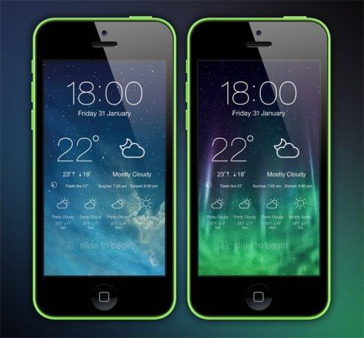 LockScreen Weather-530x492