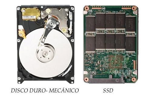Comparativa entre discos duros y discos SSD.