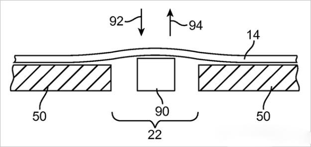 Apple patenta una pantalla flexible con botones modulares