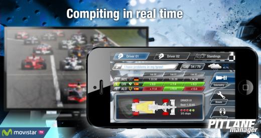 Pitlane Manager la app para dirigir un equipo de Fórmula 1