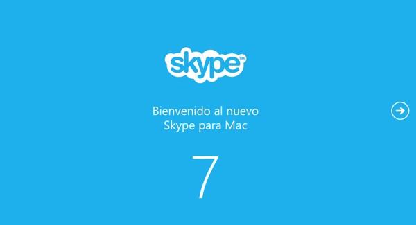 Skype para Mac se actualiza a la versión 7