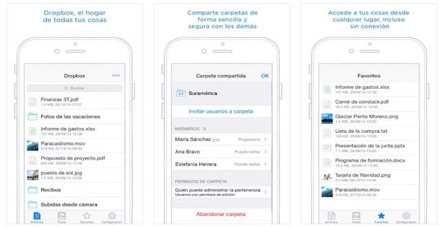 Dropbox 3.5 con soporte para iPhone 6 y Touch ID