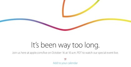 Sigue en iOSMac la Keynote de Apple del 16 de octubre