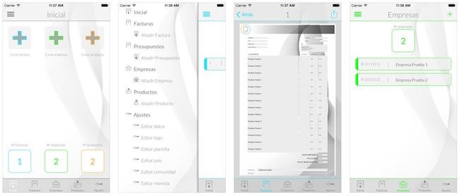 iFacturas y factura desde el iPhone -iosmac