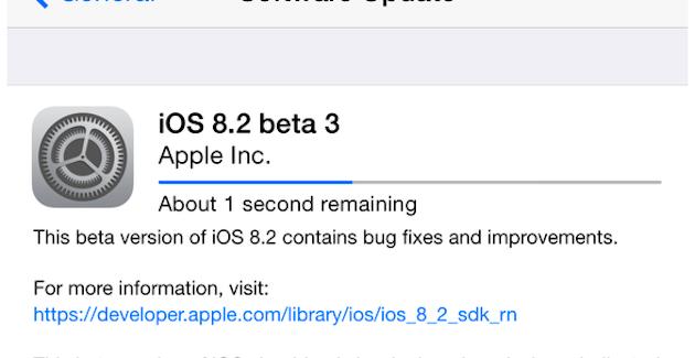 Disponible iOS 8.2 beta 3 disponible para desarrolladores