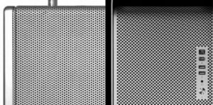 Braun T1000 Radio y Apple Mac Pro.