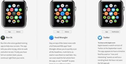 WatchAware, Una web permite la vista previa interactiva del Apple Watch
