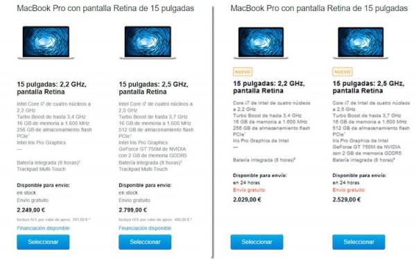 Apple sube el precio del Macbook Pro hasta 270€ sin avisar