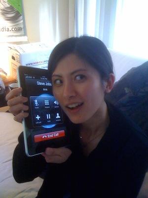 call-using-iPad