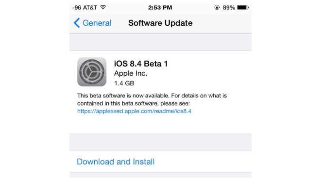 ios 8.4 beta 2