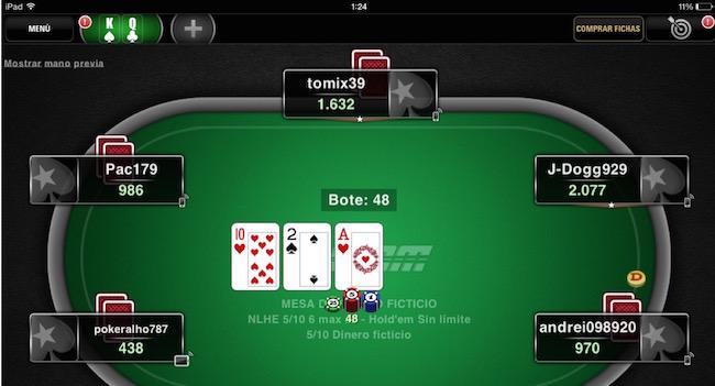 más póker dispositivo móvil