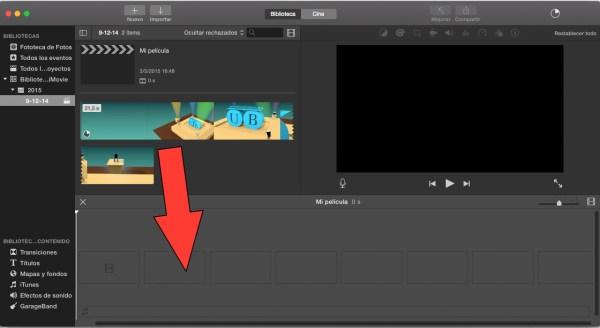 Añade texto a tus videos en iMovie