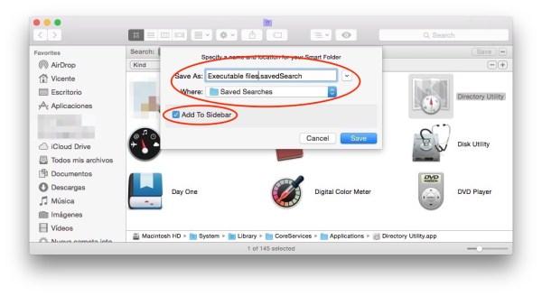 Save smart folder