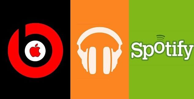 Competencia entre Spotify, Apple Music y Google Play para música en streaming