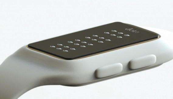 Llega Dot, el primer smartwatch con lenguaje braille del mundo