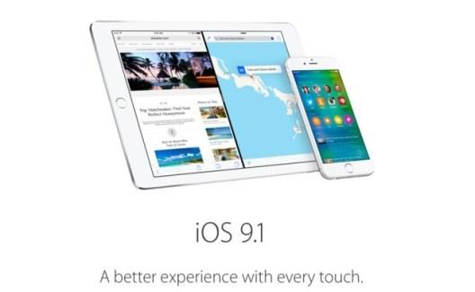 iOS 9.1: disponible la beta para desarrolladores y beta testers