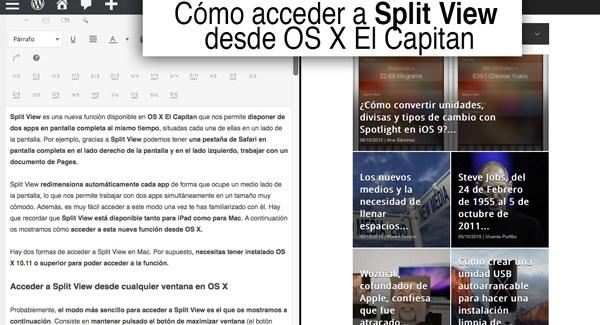 OS X El Capitan: cómo usar el nuevo Split View