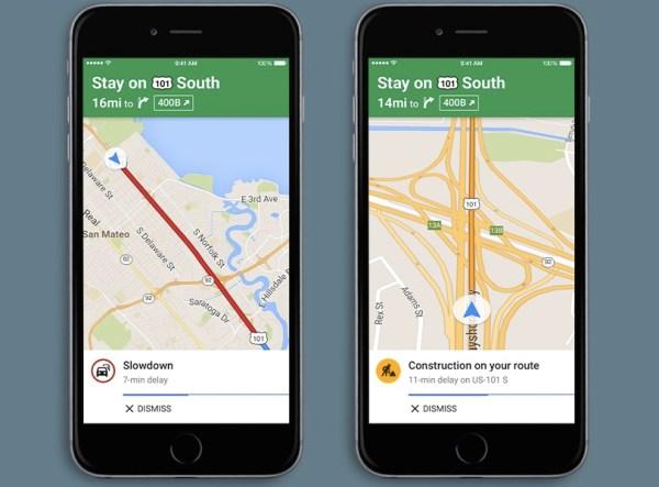 Google-Maps-Alertas de tráfico habladas