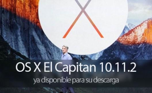 El Capitan se actualiza a la versión OS X 10.11.2