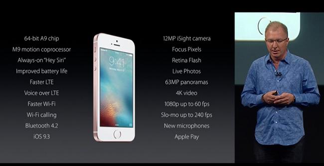 caracteristicas iPhone SE