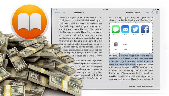 Apple pagará 450 millones por negociar precios de los eBooks