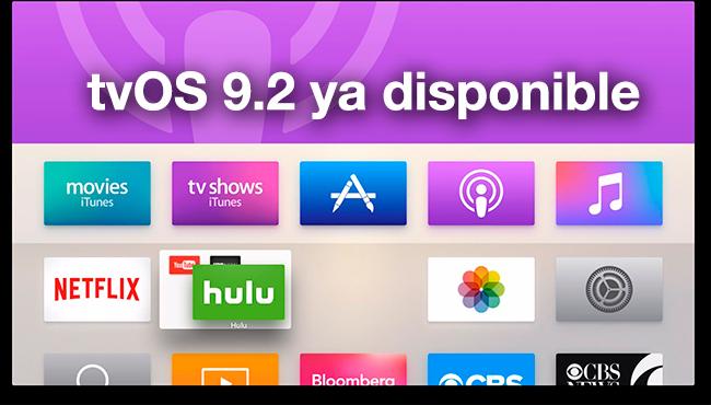 tvOS 9.2 ya disponible: estas son todas las novedades