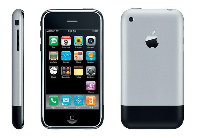 El primer iPhone, sólo pasaron 9 años.