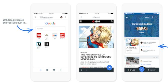 Google Spaces ya disponible en iOS y Android