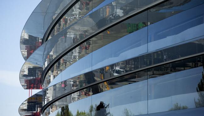 Apple Campus 2 y sus grandiosos paneles de cristal