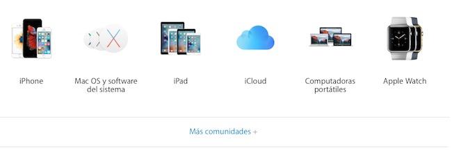 apple soporte técnico español comunidad
