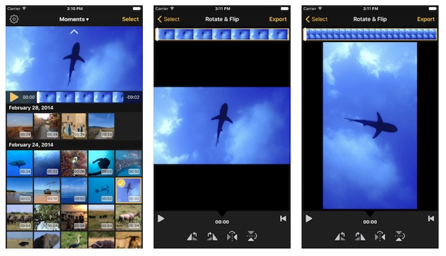 Rotate & Flip App, editor de video